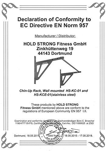 Hold Strong Fitness Edelstahl-Klimmzugstange für Crossfit / Freeletics Außeneinsatz Studiozertifizierung