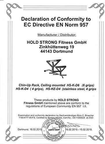 Hold Strong Fitness Edelstahl-Klimmzugstange fuer den Garten Studiozertifizierung