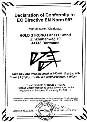 Hold Strong Fitness Wand-Klimmzugstange in Weiß HS-K-W6W Studiozertifizierung
